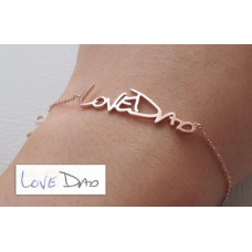 Gold Love Dad Bracelet