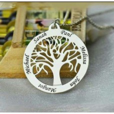 Silver Tree Laser Cut & Engraved