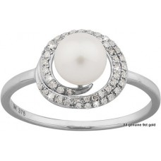 Diamonds Rap Round Pearl Ring