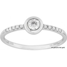 Fine Rim Halo Diamond Ring