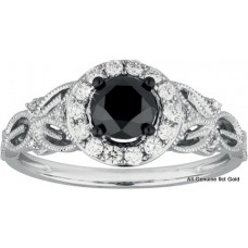 Black Diamond Scrolls Ring