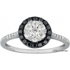 Black Halo Diamonds Solitaire