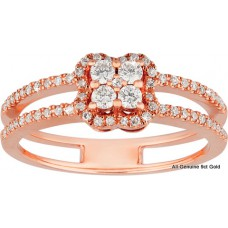 Cushioned Shape Split Band Diamonds
