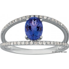 Oval Tanzanite Split Shank