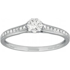 Fine Diamond Cluster Pave` Ring