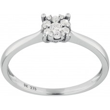 Diamond Flower Cluster Ring
