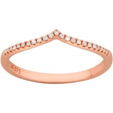 Rose Gold Diamond Wishbone