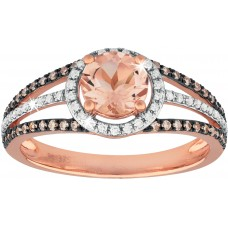 Round Halo and Triple Band Cognac