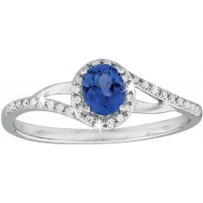 Diamonds Halo and Tanzanite Ring