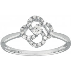 Diamond Four Petal Ring