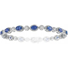 Tanzanite Diamonds Tennis Bracelet