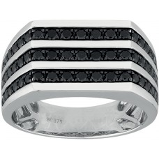 Black Diamond Gent's Strip Ring