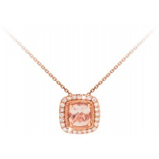 Cushion Purdy Morganite Pendant
