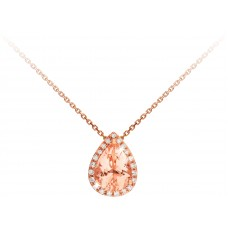 Pear Shape Morganite Pendant