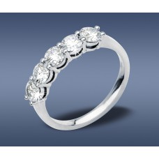 Claw Set  Diamonds Eternity Ring