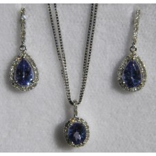 Earrings Pendant Tanzanite Set