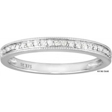 Fine Diamonds Half Eternity Ring W/G