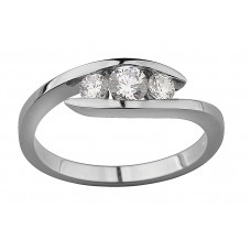 Floating Diamonds Trilogy Ring