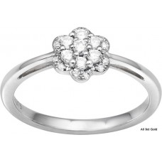 Flower Top Fine Shank Ring