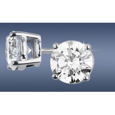 Round 0.55ct Each Diamond Studs
