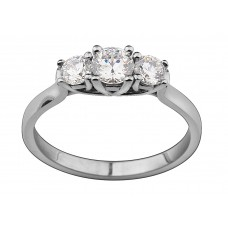 Round 0.60ct Total Trilogy Ring