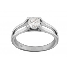 Shoulder Split Band Solitaire Ring