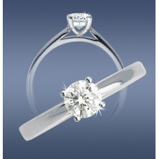 Solitaire Diamond Classic Ring