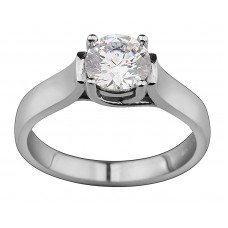 Squared Solitaire Diamond Ring