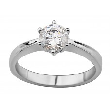 Tapered Solitaire Diamond Ring